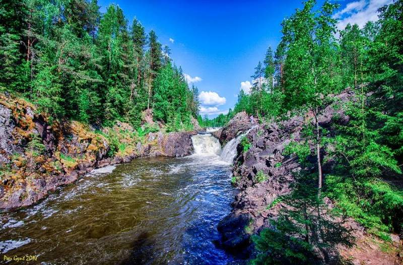 Река Суна. Водопад Кивач