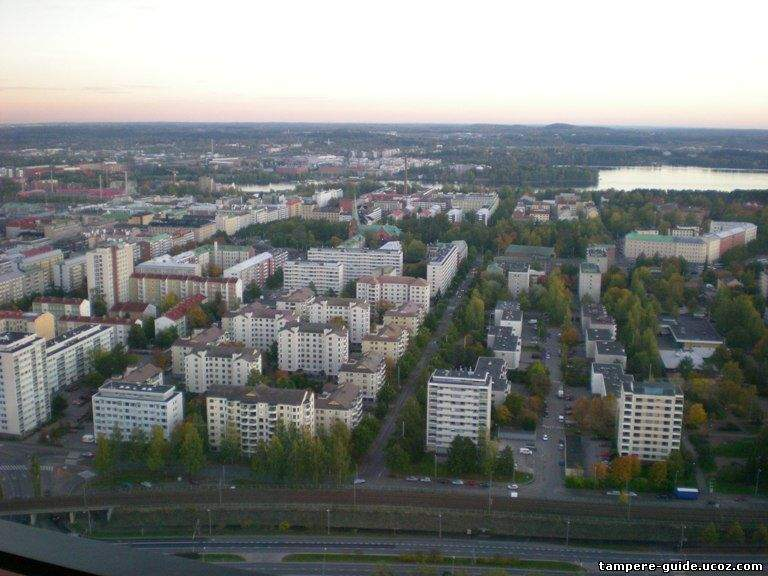 Вид на город с обзорной башни Näsineula
