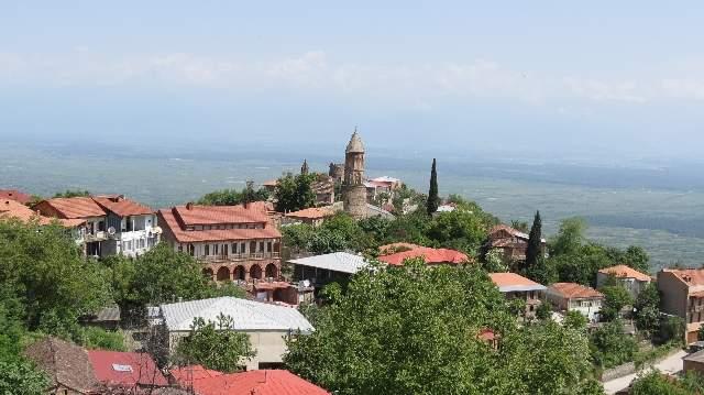 Город Сигнахи. Вид на Алазанскую долину