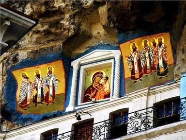 Роспись над пещерным храмом Успенского монастыря, Бахчисарай