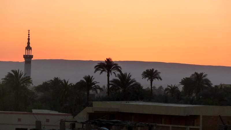Египет.Закат в Гизе