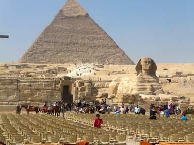 Пирамида Хефрена и Сфинкс.
