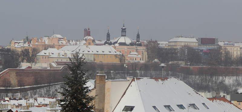 Вид с крепостной стены в Праге