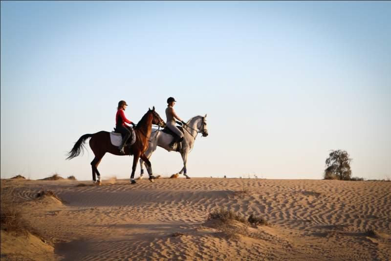 Конная прогулка в пустыне
