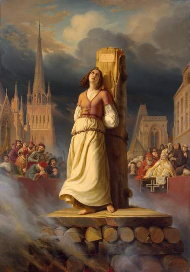 Жанна на костре в Руане
