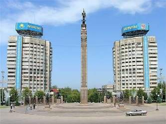 Монумент Независисмости в Алмате