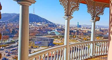 Панорамный вид на Тбилиси