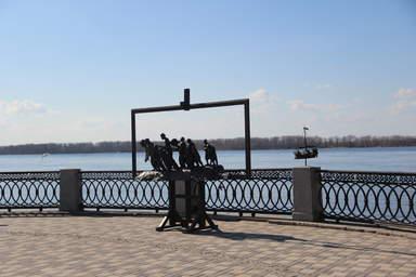 памятник бурлакам на самарской набережной