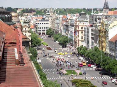 Вацлавская площадь. Вид с крыши дома Моды