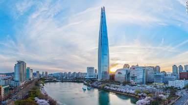 Самое высокое здание Lotte Tower 123 этажа, 555 метра