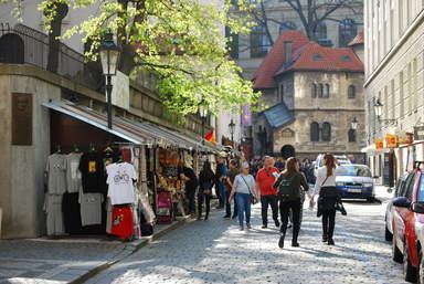 Йозефов, улица U Starého hřbitova, в Праге.