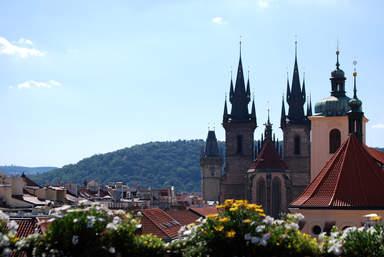 Вид на Тынский храм в Праге