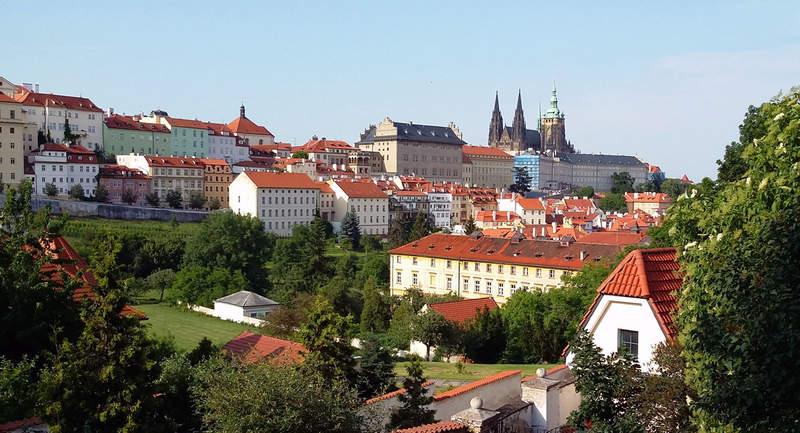 Вид на Пражский град