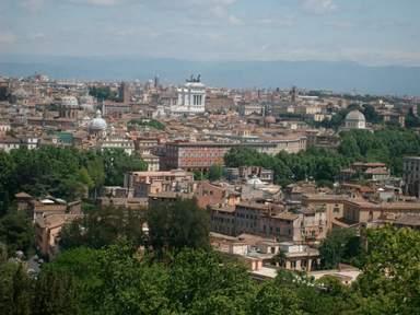 вид на Рим с Яникульского холма