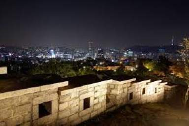 Вид с холма где проходит крепостная стена