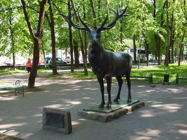 Смоленский олень в парке Блонье