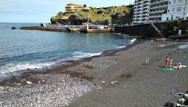 Пляж с черным песком Сан-Маркос