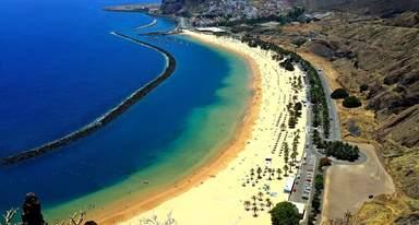 Пляж Тереситас. Вид со смотровой площадки.