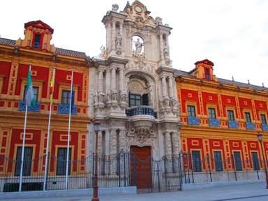 фасад дворца Сан Тельмо