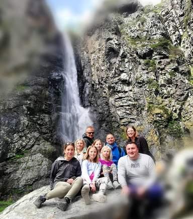 Водопад   Гвелети-мои гости из Швеции