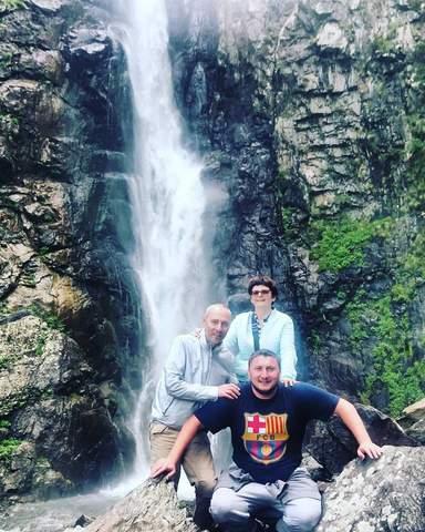 Водопад   Гвелети-мои гости из России