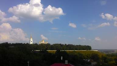 Панорама города со смотровой площадки