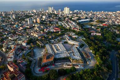 Вид с дрона на Гавану