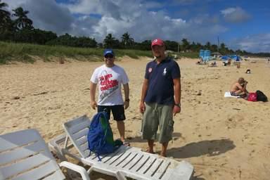 На пляже Санта Мария
