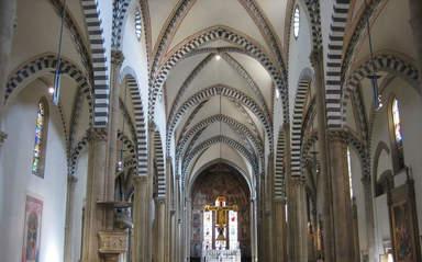 Всередине церкви Санта-Мария Новелла