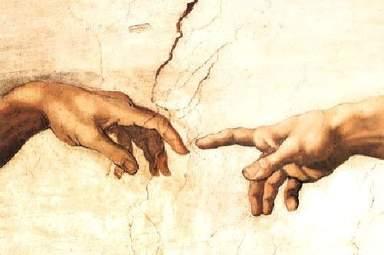 Сотворение Адама-Микеланджело-фрагмент