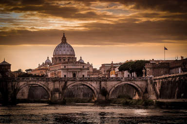 Тибр с видом на Ватикан