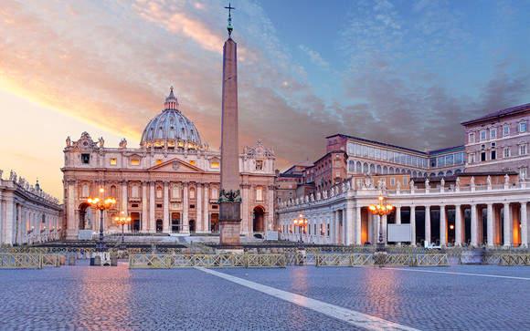 Рассвет на площади Святого Петра. Рим