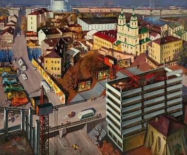 Верхний рынок. Картина художника Данцига