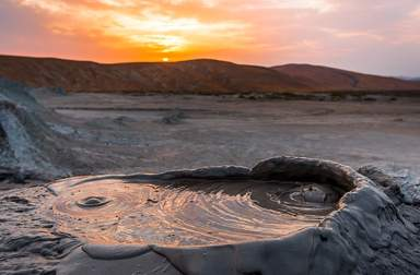 Возможен заезд на грязевые вулканы Дашгиль