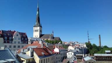 Вид на церковь Олевисте