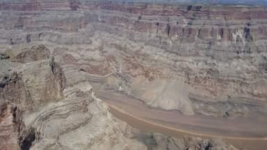 Западный Отрог Большого Каньона с высоты птичьего полета