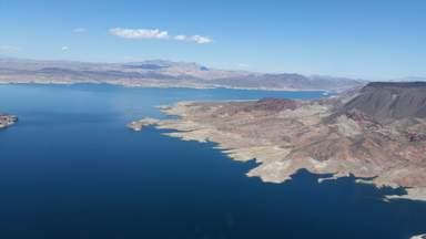 Озеро Мид с высоты птичьего полета