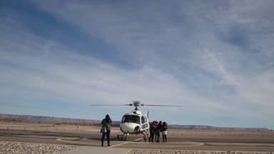 Вертолетный Терминал на Западном Отроге Большого Каньона