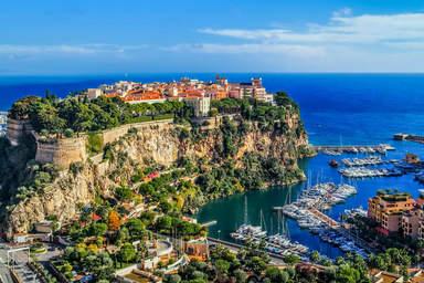 Монако, вид на историческую часть