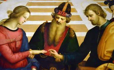 Фрагмент картины Рафаэля, пинакотека Брера