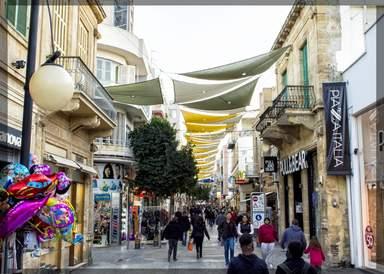 Ледра - центральная пешеходная улица Никоссии