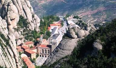 Монастырь Монтсеррат вид сверху