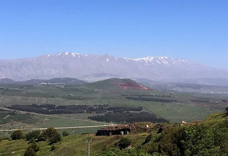 Вид на гору Хэрмон - Голанские высоты