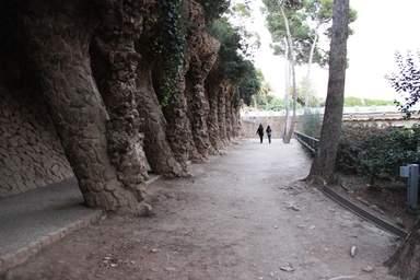 Парк Гуэль прогулочная дорожка
