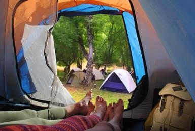 Кемпинг в Хаджикенде - вид из палатки