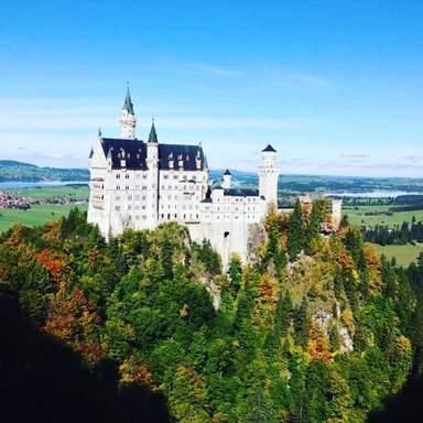 Замок Нойшванштайн. Осень.