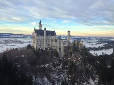 Замок Нойшванштайн. Зима.