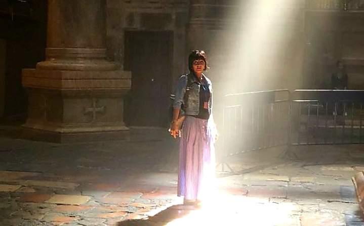 Луч в Храме Гроба