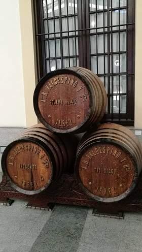 бочки с вином из Хереса