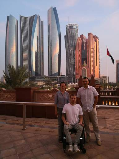 С Гостями из Москвы Андрей и Алла на обзорной экскурсии по Абу-Даби